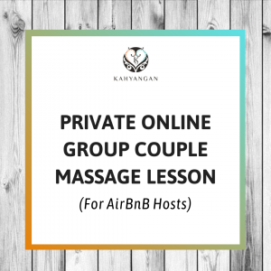 private online couple massage lesson for airbnb hosts